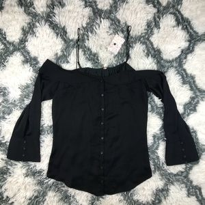 Free People NWT Women's Cold Shoulder Blouse Med